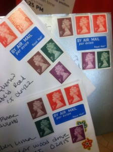 So many colorful stamps!